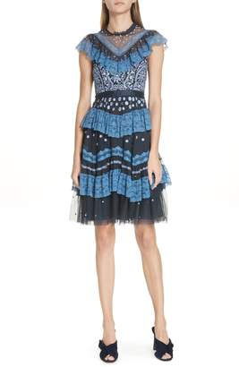 Needle & Thread Astra Tulle Ruffle Dress