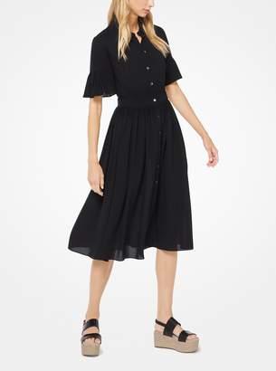 Michael Kors Silk-Georgette Shirtdress