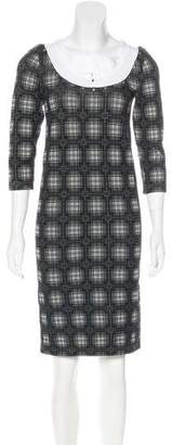 Zac Posen Knit Plaid Dress