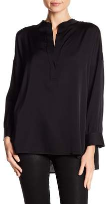 Vince Silk Blend Split Collar Blouse