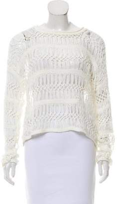 Yigal Azrouel Cut25 by Braided-Lace Scoop Neck Sweater