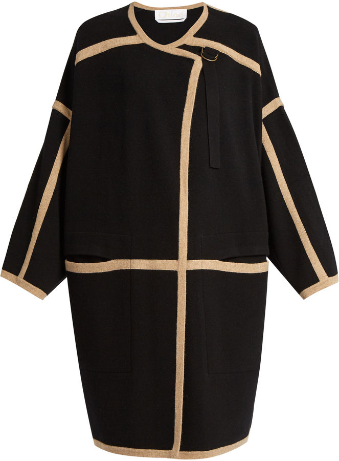 Chloé  CHLOÉ Wool and cashmere-blend coat