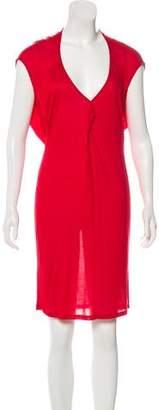 Alexander McQueen Semi-Sheer Midi Dress