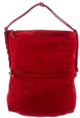 Bottega Veneta Suede Shoulder Bag red Suede Shoulder Bag