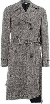 Comme des Garcons asymmetric belted coat