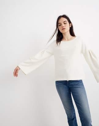 Madewell Texture & Thread Shirred-Sleeve Top