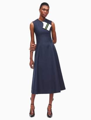 Calvin Klein silk cotton flared dress