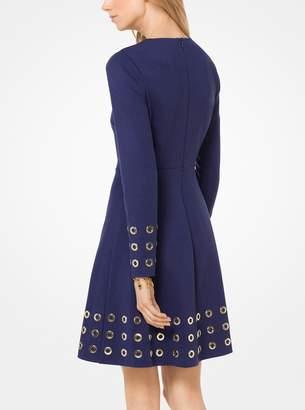 MICHAEL Michael Kors Grommeted Ponte Dress