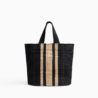 James Perse PLAYA STRIPED SMALL HEMP TOTE