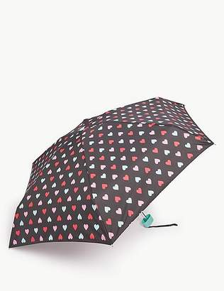 """Marks and Spencer Heart Print Compact Umbrella with Stormwearâ""""¢"""