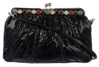 Judith Leiber Python Embellished Evening Bag