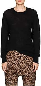 R 13 Women's Distressed Cashmere Sweater-Black