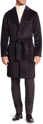 Ovadia & Sons Men's Woolen Belted Waist Top Coat