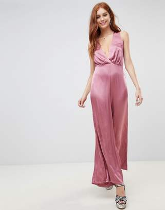 New Look Wide Leg Low Cut Jumpsuit