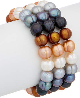 Honora 9-10Mm Pearl Set Of 3 Stretch Bracelets
