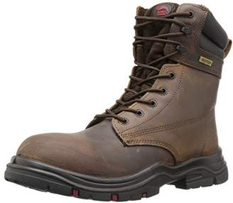 "Avenger Safety Footwear Men's Avenger 7266 8"" Waterproof EH Wide Comp Toe Work Boot Industrial and Construction Shoe"
