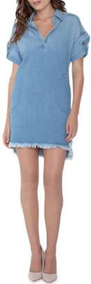Parker Smith Pull-On Denim Shirtdress