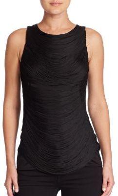 Ralph Lauren Collection Sleeveless Draped Fringe Top