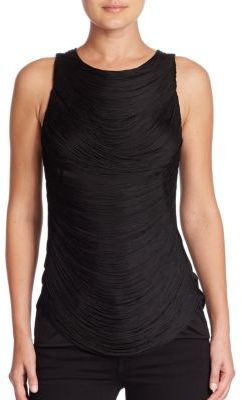 Ralph Lauren Collection Sleeveless Draped Fringe Top $650 thestylecure.com
