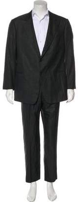 Armani Collezioni Satorial Wool & Silk Striped Suit