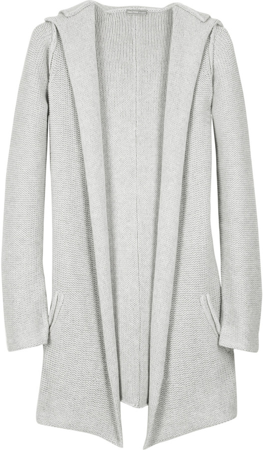 James Perse Cashmere blend hooded cardigan