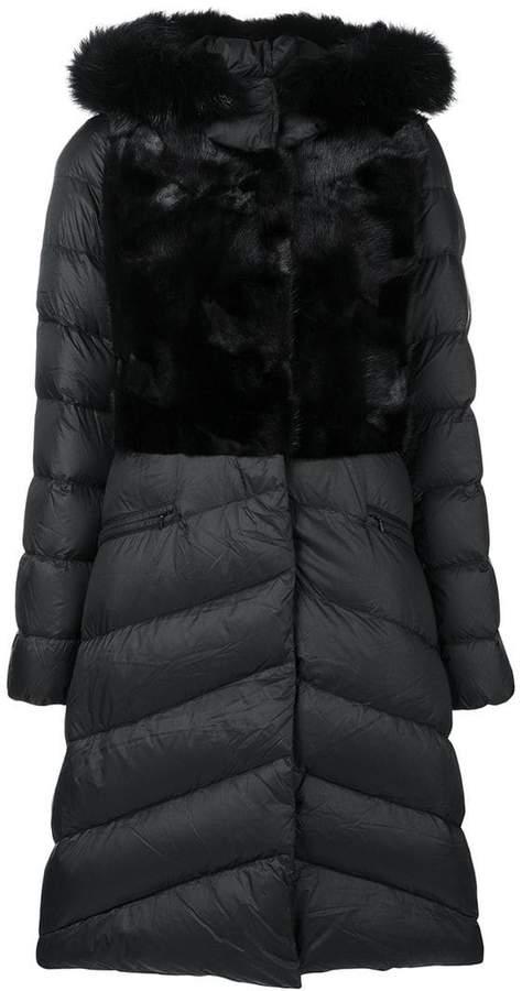 Liska padded mid-length coat