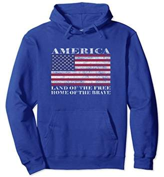 America Land Of The Free Home Of The Brave Hoodie