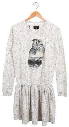 Finger In The Nose Girls' Mélange Owl Dress w/ Tags
