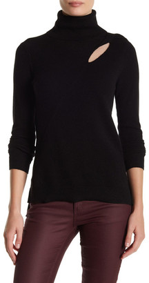 In Cashmere Cashmere Peek A Boo Shoulder Sweater $280 thestylecure.com