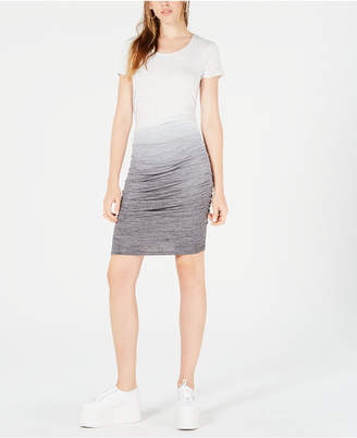 Bar III Ombre Side-Ruched Dress