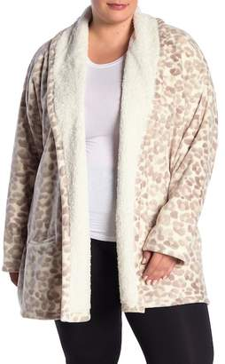 Hue Cozy Faux Shearling Lined Robe (Plus Size)