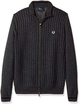 Fred Perry Men's Waffle Knit Zip Thru Cardigan