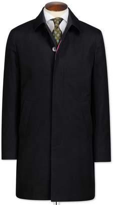 Charles Tyrwhitt Black Cotton RainCotton coat Size 40