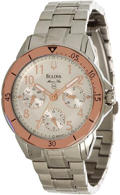 Bulova Ladies Marine Star - 96N101 (White) - Jewelry