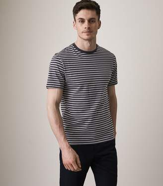 Reiss CARRICK STRIPED CREW NECK T-SHIRT Navy