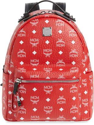 MCM Medium Stark Coated Canvas Backpack