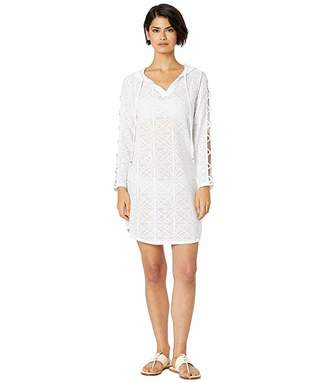 Dotti Starburst Strappy Sleeve Hoodie Tunic Cover-Up