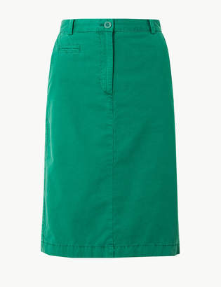 Marks and Spencer Pure Cotton Chino Skirt