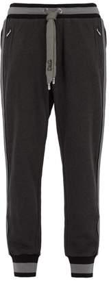 Dolce & Gabbana Side Striped Cotton Jersey Track Pants - Mens - Grey