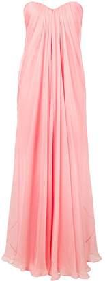 Alexander McQueen chiffon bustier gown