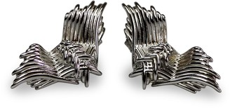 Bellus Domina Angel Wings Earrings White Gold Plated