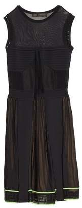 Versace Multi Knit Sleeveless Dress - Womens - Black Green