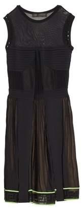 Versace Multi Knit Sleeveless Dress - Womens - Black Green