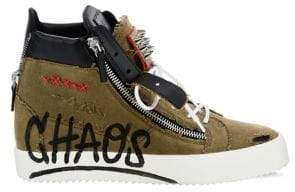 Giuseppe Zanotti Grafitti Stud High-Top Sneakers