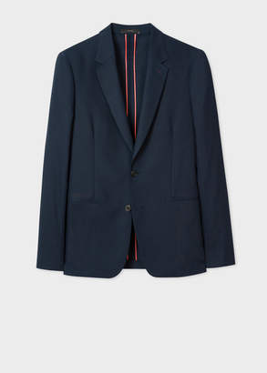 Paul Smith Men's Tailored-Fit Dark Navy Loro Piana Wool Blazer