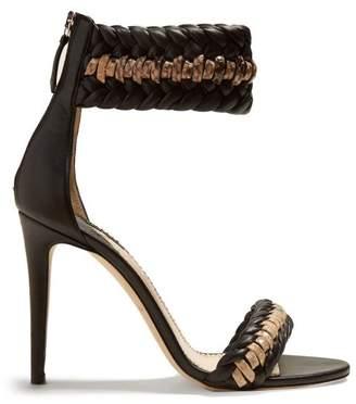 Altuzarra Gihanda Braided Detailed Heeled Sandals - Womens - Black Nude