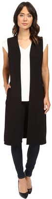 Jag Jeans Oxford Sleeveless Duster Double Knite Ponte $84 thestylecure.com