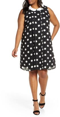 CeCe Dappled Dot Sleeveless Dress