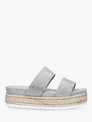 ce44d63683 Carvela Belize Embellished Slip-On Flat Sandals, Grey