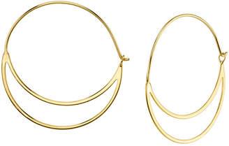 Unwritten Double Hoop Earring in Sterling Silver